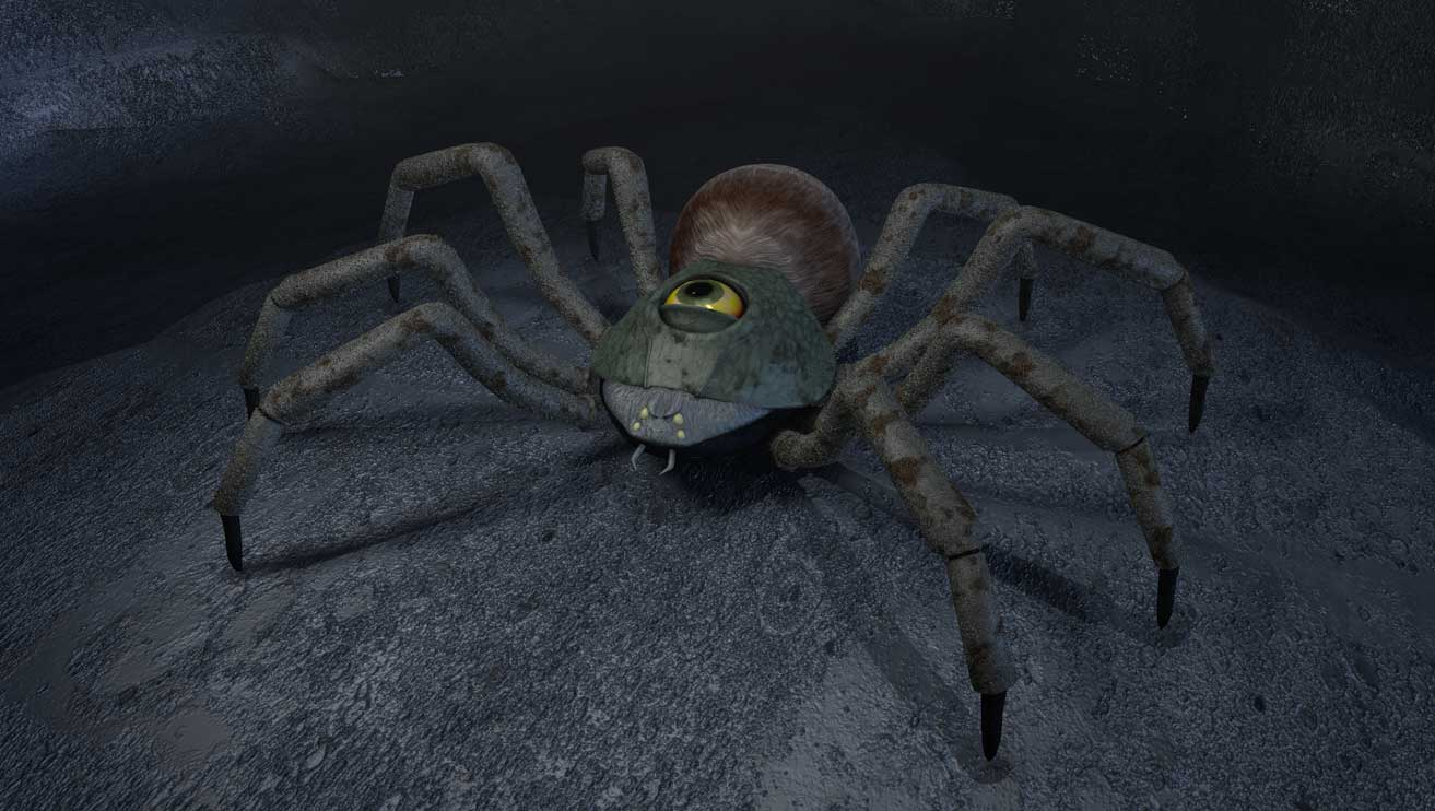 Giant Spider in Cave